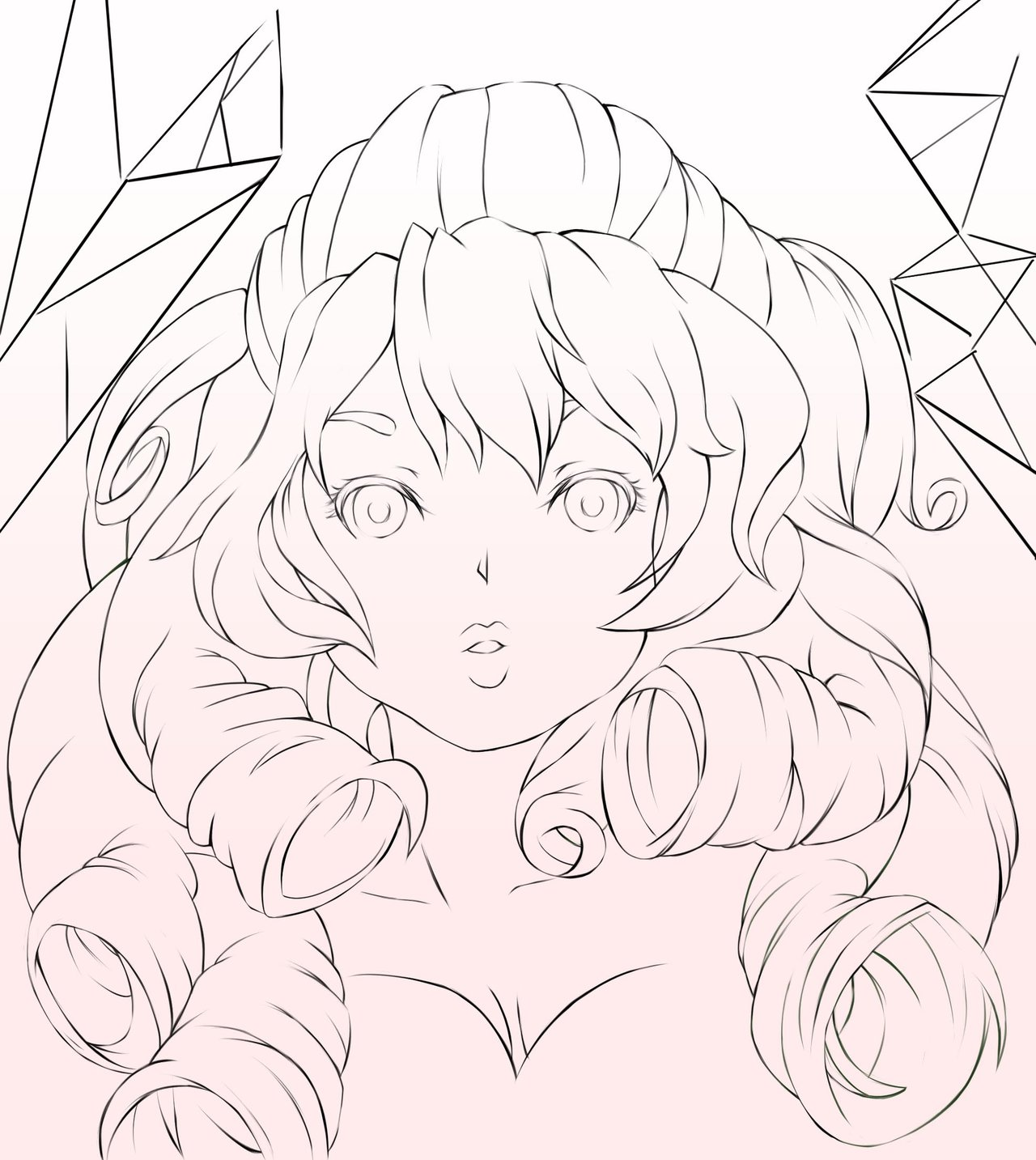 1280x1433 Rose Quartz Lineart By Yangspirit