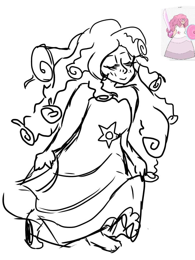 768x1024 Rose Quartz Drawing Steven Universe Amino