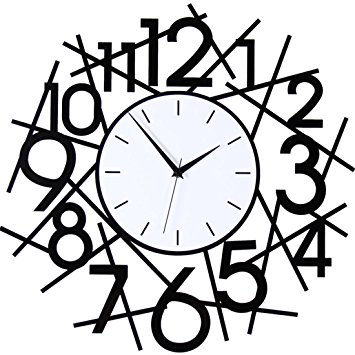 355x355 Creative Art Wall Clock Drawing Simple Personalization Jong Mute