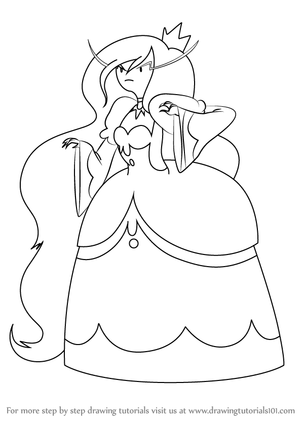 598x844 Learn How To Draw Ice Queen From Adventure Time (Adventure Time