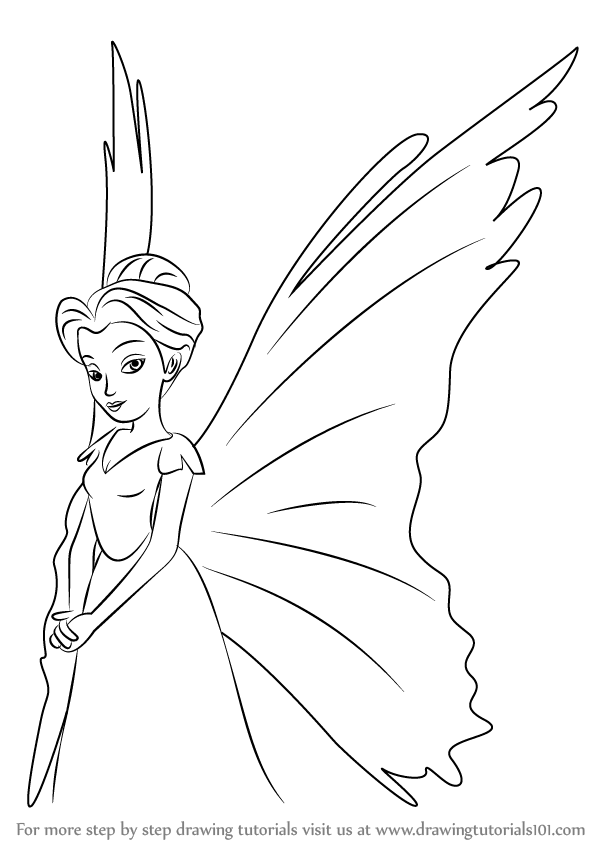 598x844 Learn How To Draw Queen Clarion From Tinker Bell (Tinker Bell