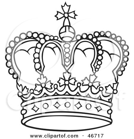 450x470 Queen Crown Drawing Black And White