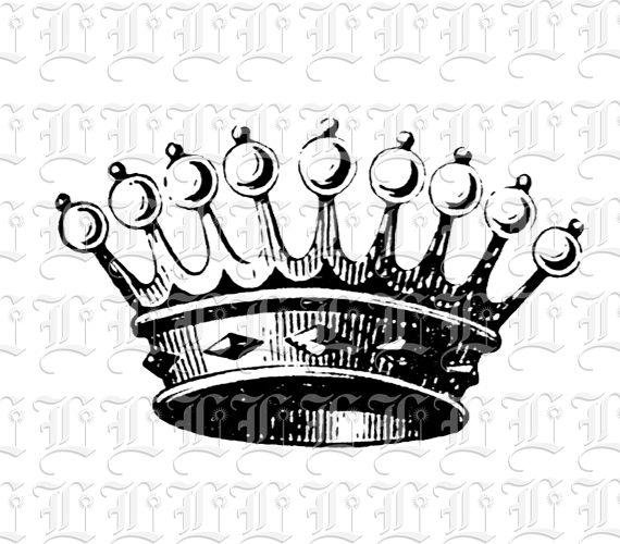 570x500 Queen Crown Iv Printable Luminarium Graphics