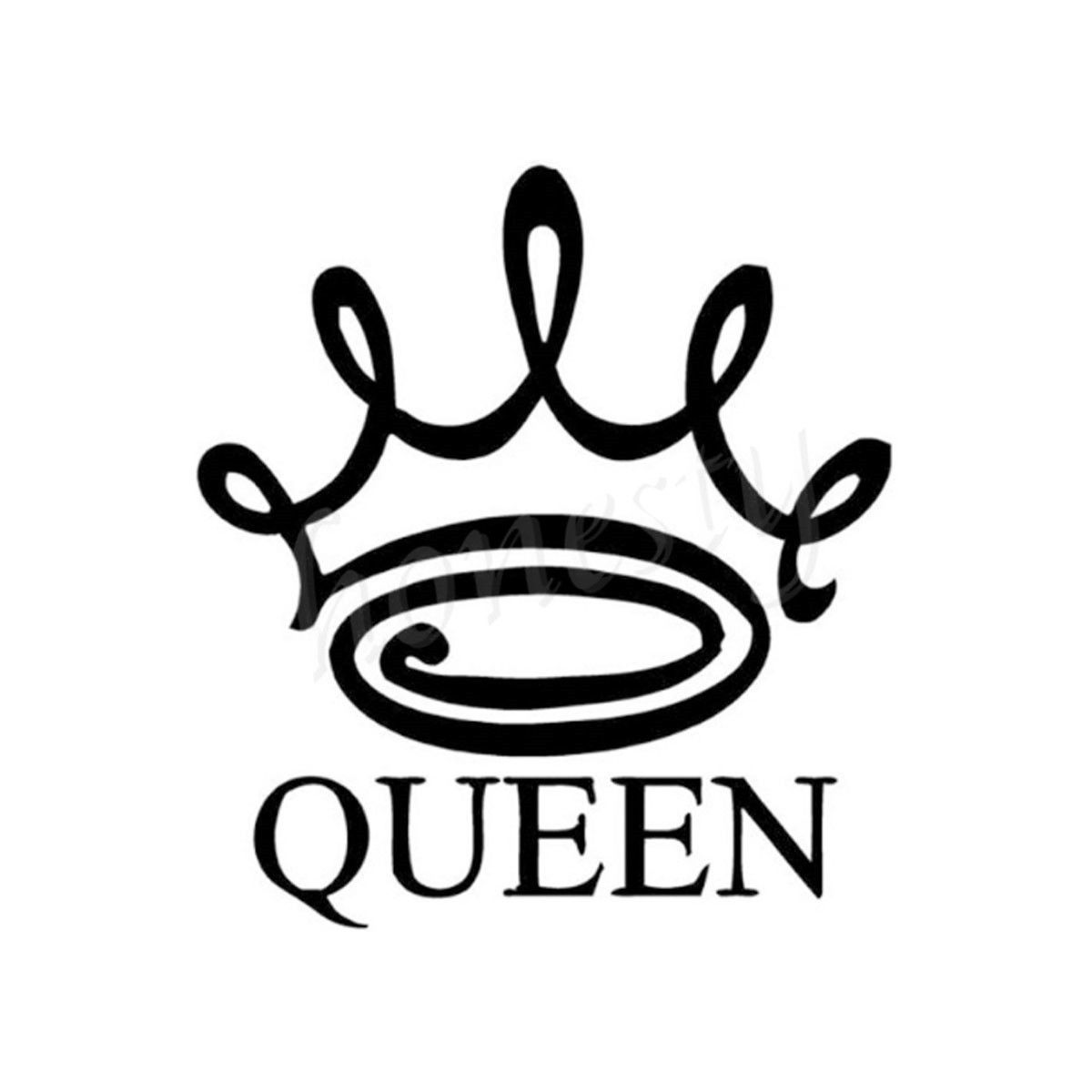 1200x1200 Queen Crown Wall Home Glass Window Door Car Sticker Laptop Truck