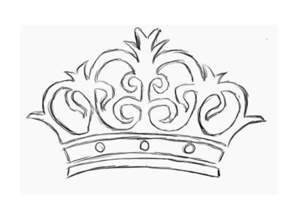 Queen Crown Drawing at GetDrawings.com | Free for personal use Queen ...