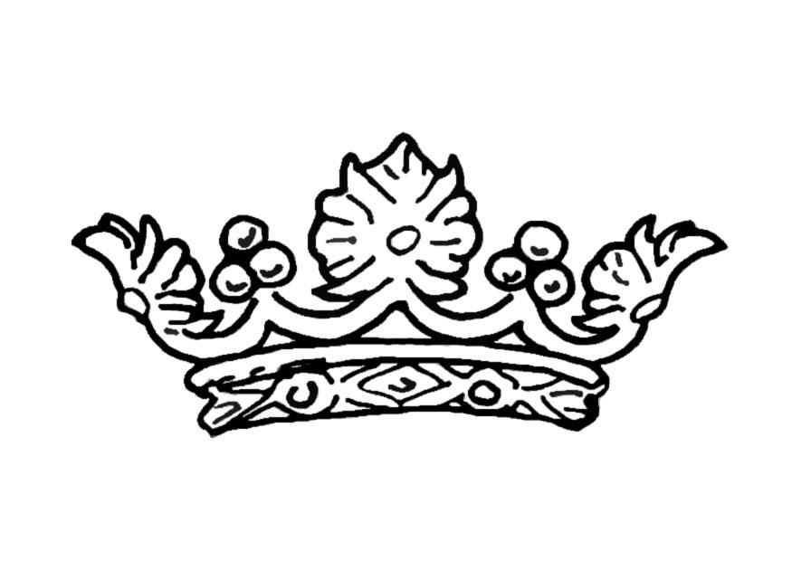875x620 Coloring Page Queen's Crown