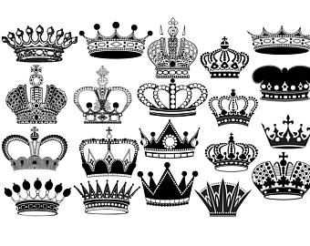 340x270 Crown Clipart Etsy