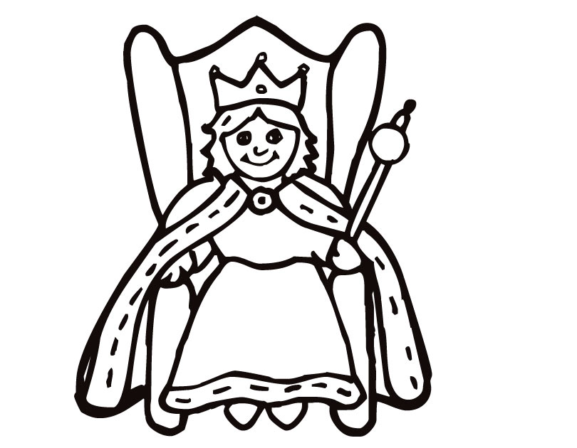 810x630 Queen Coloring Page