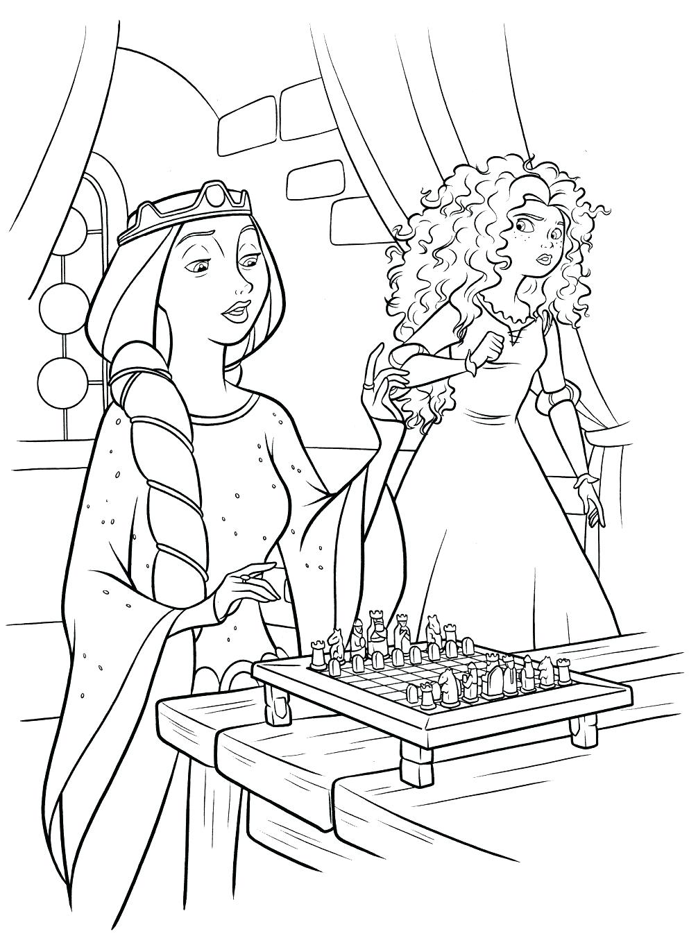 993x1349 Coloring Brave Coloring Page Queen And Pages Easy. Brave Coloring