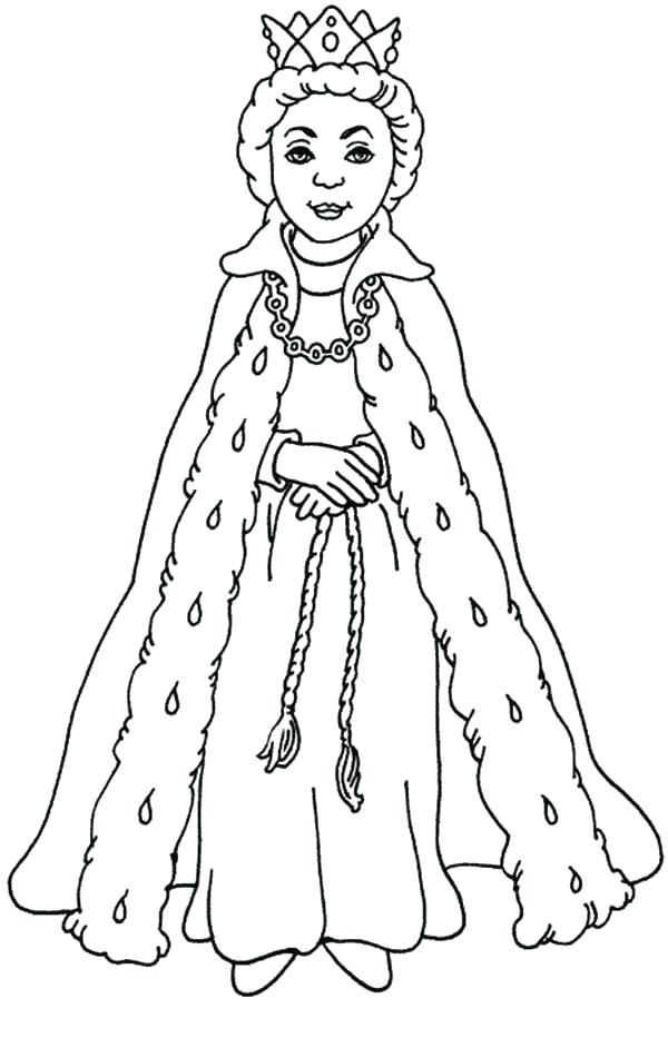 Line Drawing Of Queen Victoria : Queen drawing for kids at getdrawings free