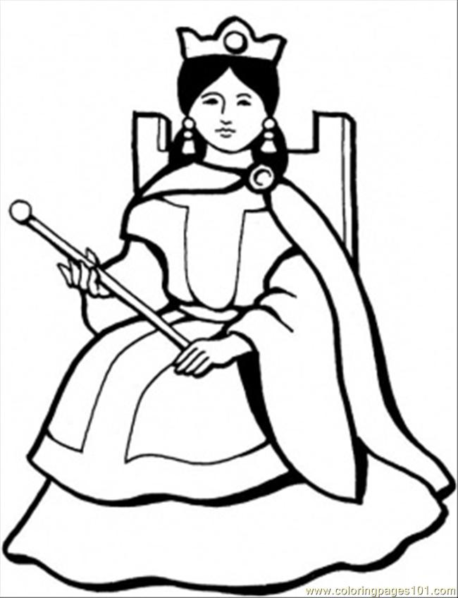 650x848 Spanish Queen Printable Coloring Page For Kids And Adults