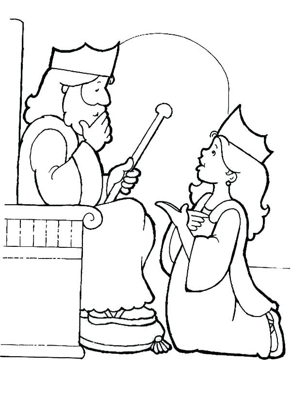 600x845 Timely Esther Coloring Pages Page For Kids Download Queen About