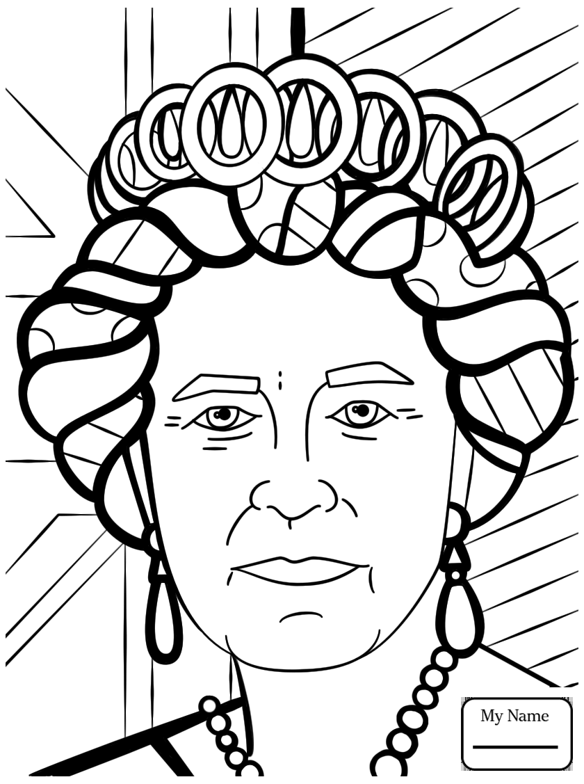 840x1127 Coloring Pages For Kids Romero Britto Arts Culture Queen Elizabeth