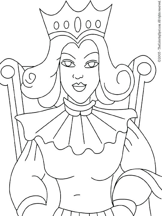 540x720 Queen Coloring Page Murs