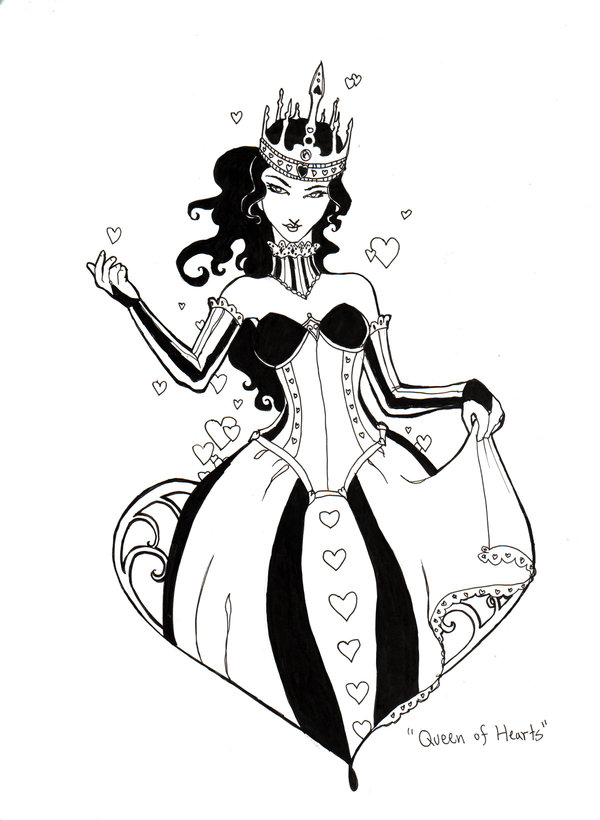 600x820 Photos Queen Of Hearts Sketch,