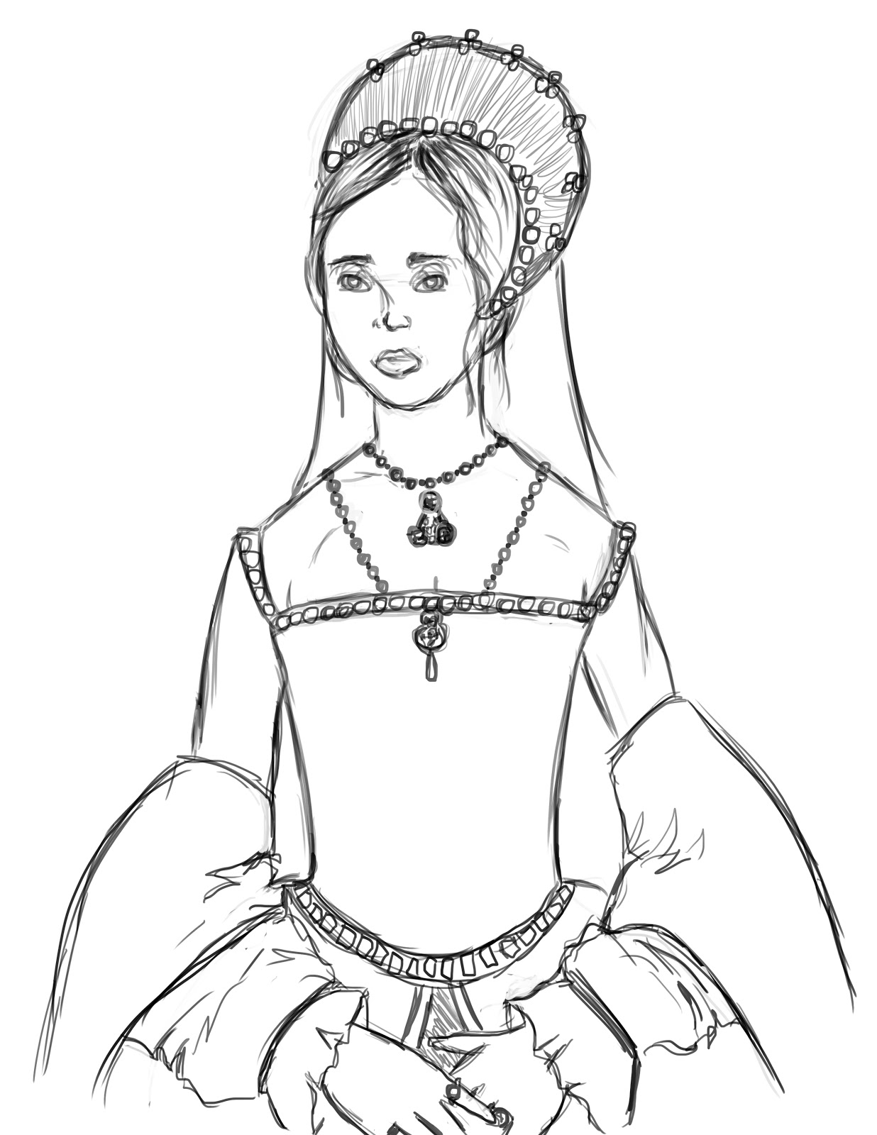 1236x1600 Queen Mary I Of England, The Sketch. Caeleigh Girard