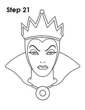 290x375 Evil queen minimalist retro How To Draw The Evil Queen (Snow