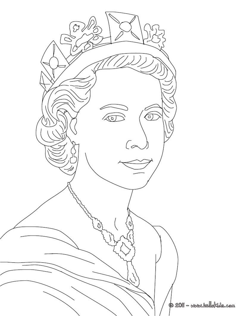 820x1060 Coloring Pages Queen Queen Elizabeth Ii Page