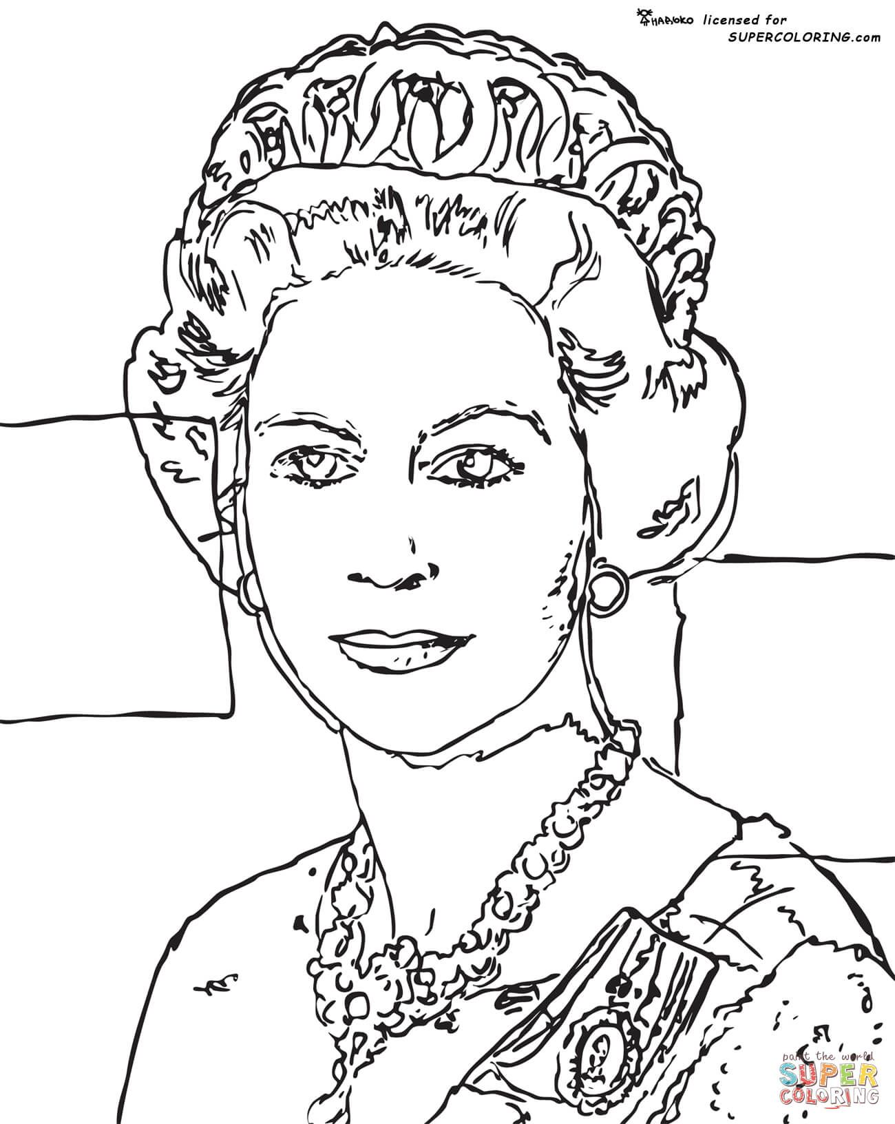 1300x1632 Queen Elizabeth By Andy Warhol Super Coloring Fame Iv