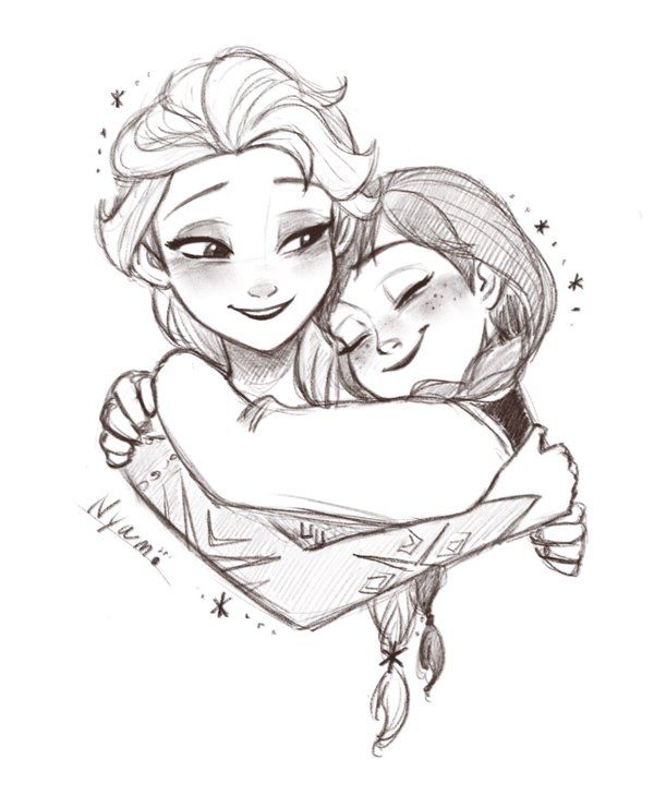 600x730 Coloring Pages Outstanding Elsa And Anna Drawing Frozen Art