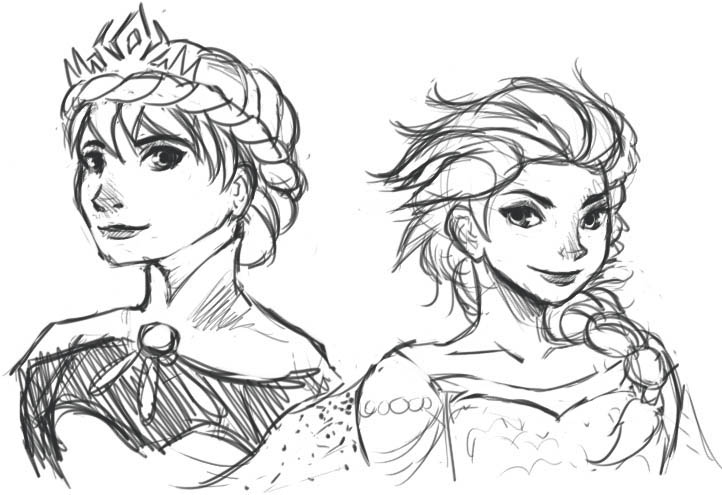 722x495 Coronation And Snow Queen Elsa Sketches By Gabumon Noodles