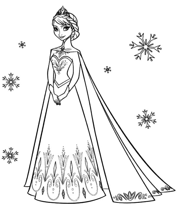 600x703 Queen Elsa Coloring Page Princess Anna Beautiful Pages