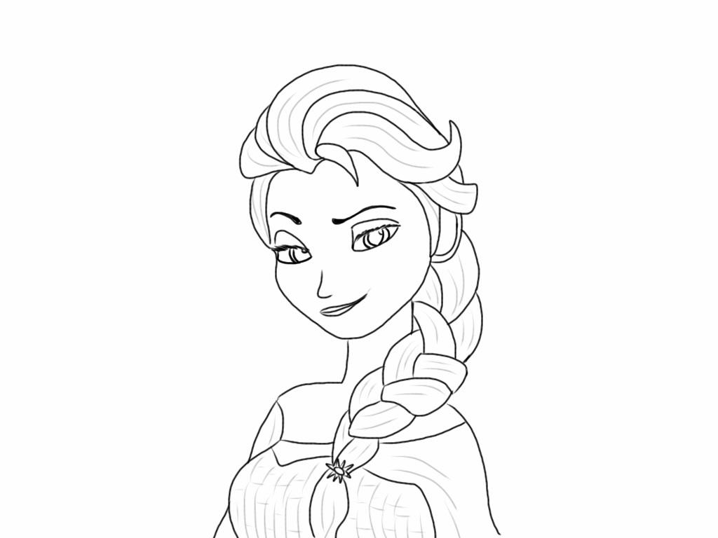 1024x768 Queen Elsa Practice Tracing By Pep12