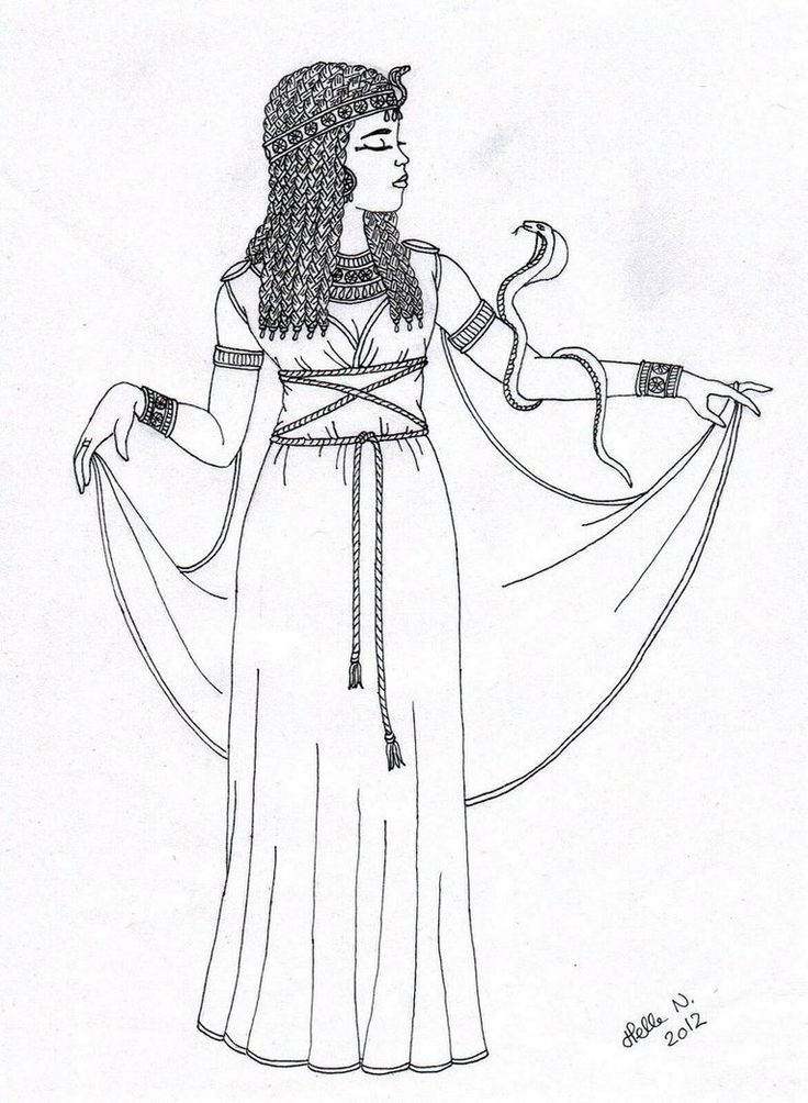 Queen Hatshepsut Drawing