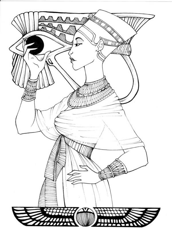 600x812 Egyptian Hatshepsut Coloring Page Ancient Egyptian Art Coloring