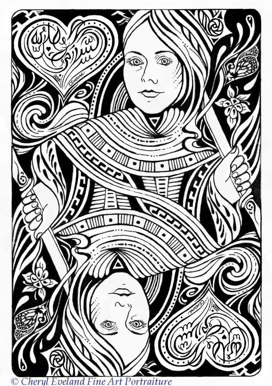 960x1360 Playing Card Art Playing Cards By Cheryl Eveland Cheryl, Queens