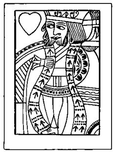 236x311 Line Drawing Of A Playing Card