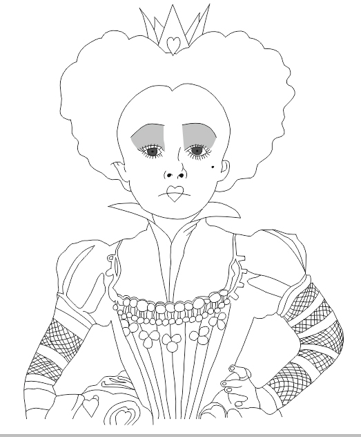 Queen Of Hearts Drawing at GetDrawings com | Free for personal use