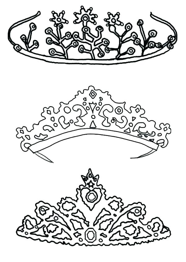 600x844 Crown Coloring Sheet Crown Coloring Sheet Type Of Princess Crown