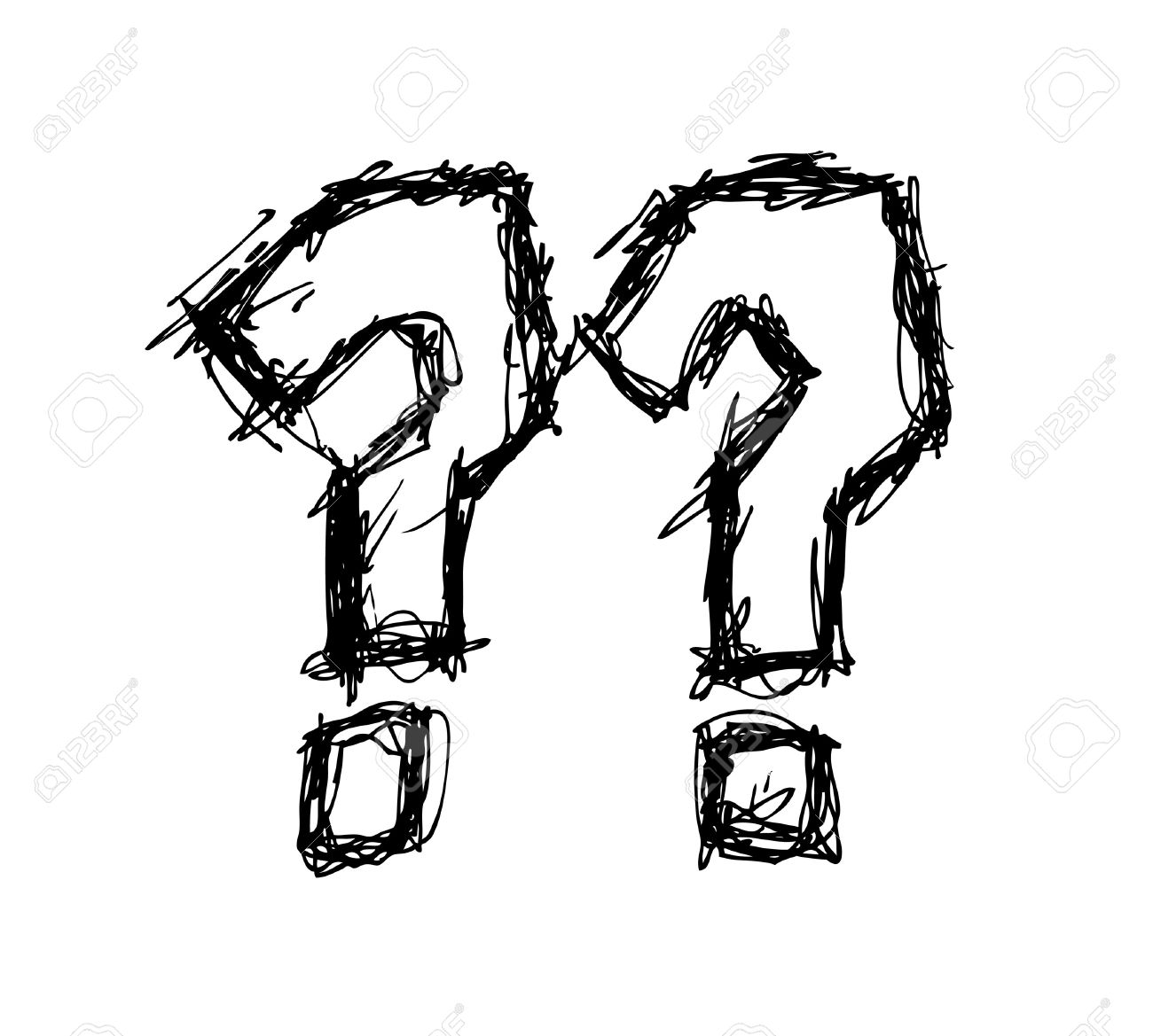 1300x1169 Hand Drawn Question Mark Royalty Free Cliparts, Vectors, And Stock