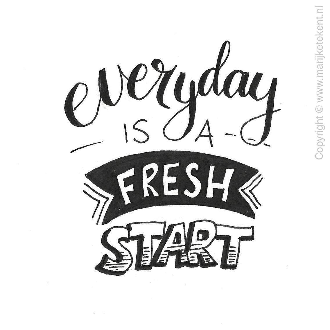 1136x1136 Everyday Is A Fresh Start Handwriting Tips Fresh