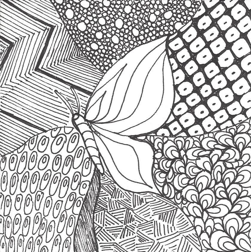 839x843 Zentangle Drawing And Quilting Mystery Bay Quilt Design