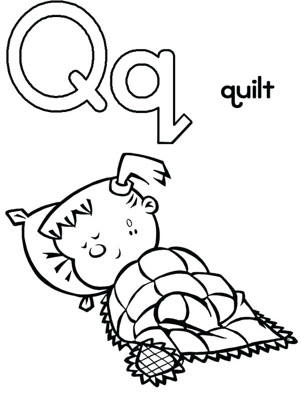 600x826 Classy Letter Q Coloring Page Kids Pages Quilt Patterns Capital
