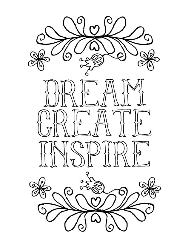 640x828 Sayings And Quotes Free Coloring Pages For Adults Popsugar