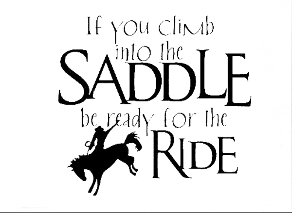 600x439 Free Shopping!wall Sticker Decal Quote Vinyl Saddle Up Horse Rider