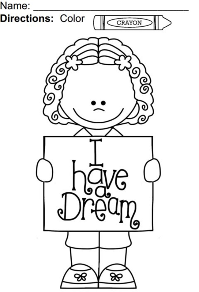 650x953 Dr Martin Luther King Jr Coloring Pages For Preschoolers Colouring