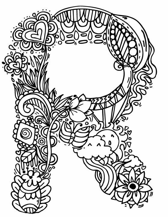 559x720 Alphabet R Doodle Art