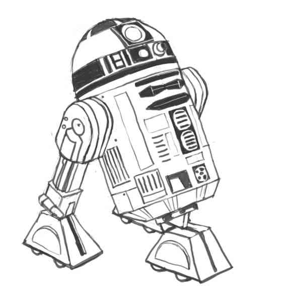 R2d2 Drawing At Getdrawingscom Free For Personal Use R2d2 Drawing