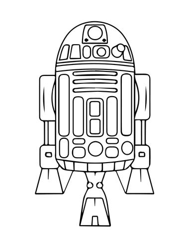 360x480 Astromech Droid R2 D2 Coloring Page Boys Birthdays