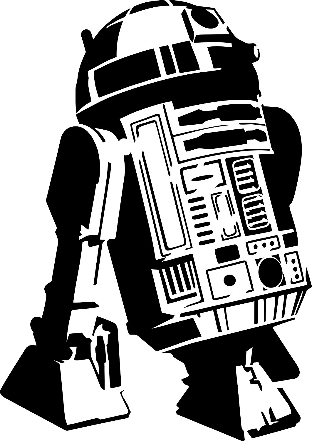 R2d2 Line Drawing