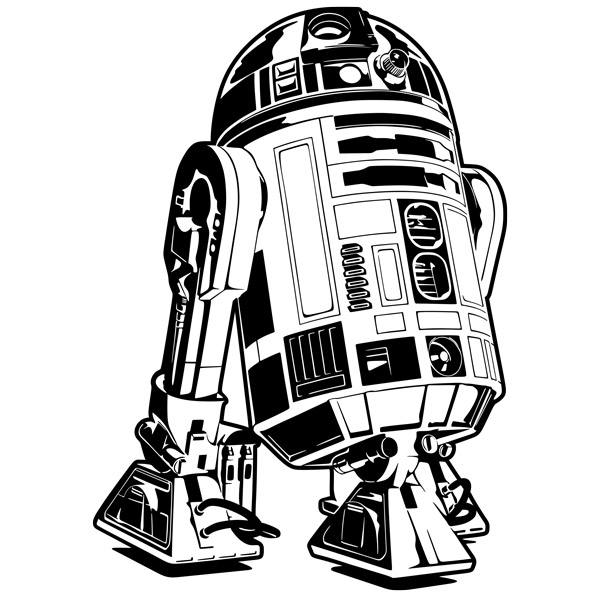 R2d2 Line Drawing At Getdrawings Free For Personal Use R2d2