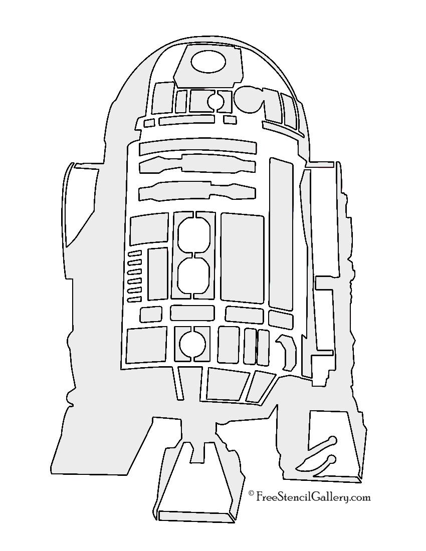850x1100 Star Wars R2 D2 Stencil Free Stencil Gallery