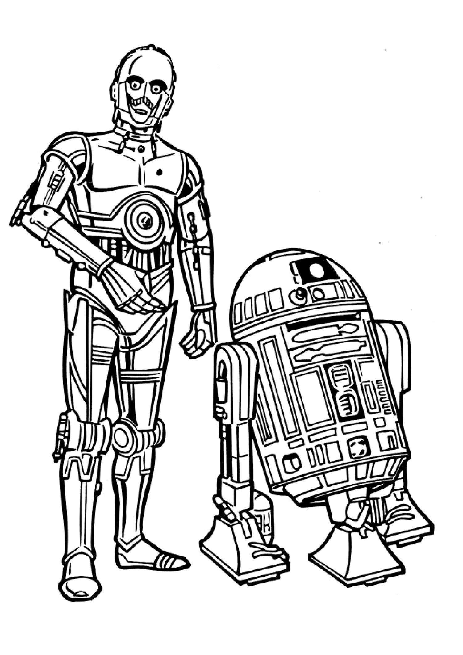 R2d2 Line Drawing at GetDrawings | Free downloadR2d2 And C3po Drawing