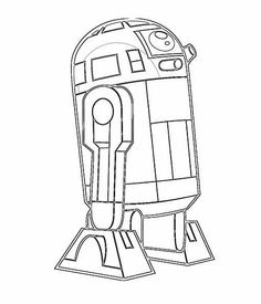R2d2 Line Drawing at GetDrawingscom Free for personal use R2d2