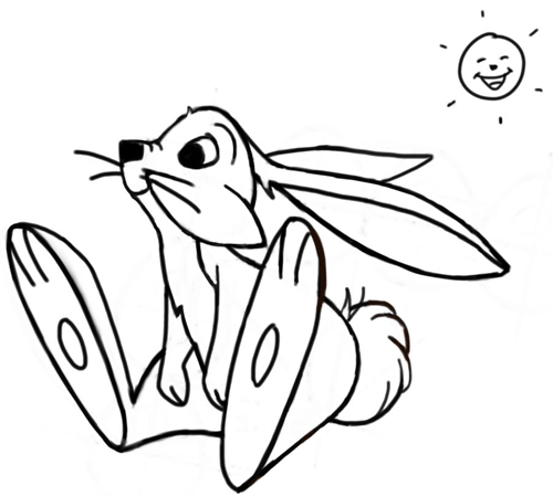500x449 How To Draw Cartoon Bunny Rabbits And Hares With Simple Step By