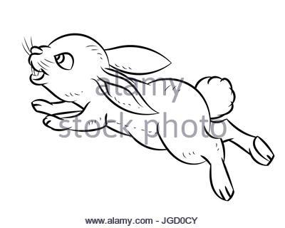 400x320 Bunny Cartoon, Vector Hand Drawing. Funny Painted Rabbit
